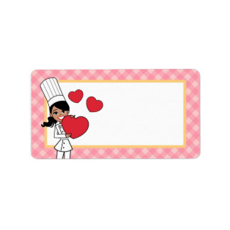 Kitchen Art Girl Label Address Label