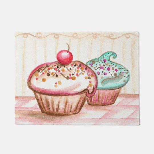 Kitchen Bakery Cupcake Rug Doormat