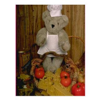 Kitchen bear postcard