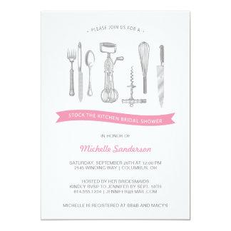 Kitchen Bridal Shower 13 Cm X 18 Cm Invitation Card