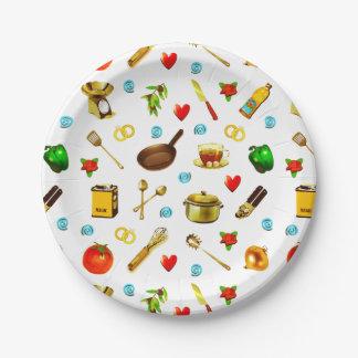 kitchen bridal shower plates 7 inch paper plate