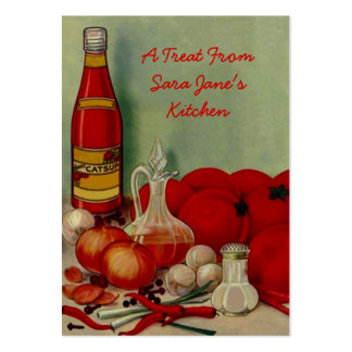 KITCHEN CANNING PRODUCE TOMATOS GIFT TAG CARDS PACK OF CHUBBY BUSINESS CARDS