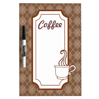 Kitchen Coffee Shop Dry Erase Board