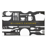 Kitchen Collage on Chalkboard Background Pack Of Standard Business Cards