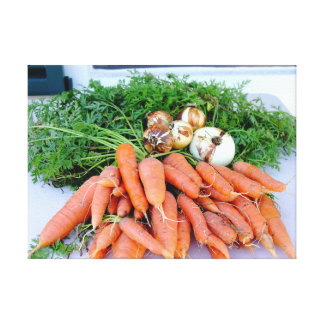 Kitchen collection carrots onions photograph art stretched canvas prints