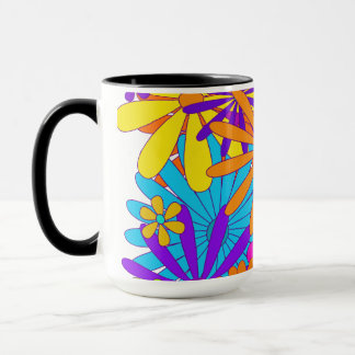 Kitchen Colorful Coffee Mug Floral Flowers Design