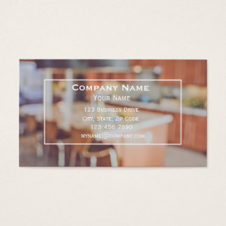 Kitchen Contractor Cabinetry Business Card