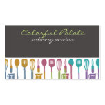 kitchen cooking utensils chef culinary biz cards pack of standard business cards