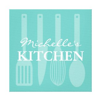 Kitchen cooking utensils wall art