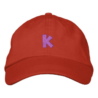 Kitchen Craft Letter K Embroidered Baseball Caps