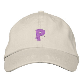 Kitchen Craft Letter P Embroidered Baseball Caps