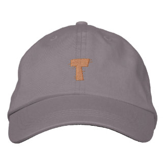 Kitchen Craft Letter T Embroidered Baseball Caps