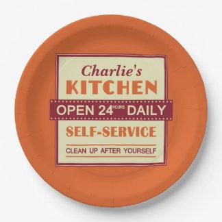 Kitchen – custom name – paper plates