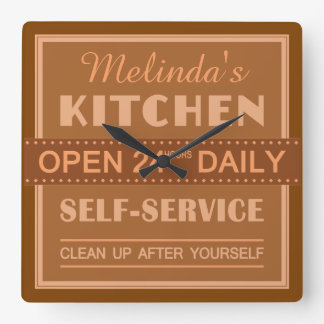 Kitchen – custom name – wall clock