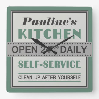 Kitchen – custom name – wall clock