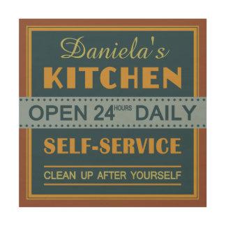Kitchen – custom name – wood canvas