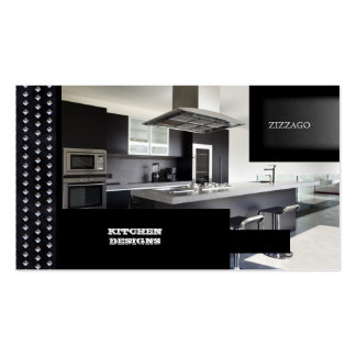 KITCHEN Designs Black Metal Pack Of Standard Business Cards