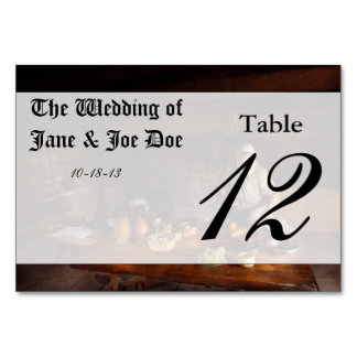 Kitchen - Farm cooking Table Card