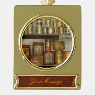 Kitchen - Food - Side dishes Gold Plated Banner Ornament