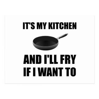 Kitchen Fry Want To Postcard