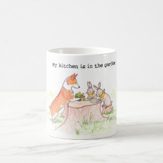 Kitchen Gardener - Corgi and Bunnies Coffee Mug