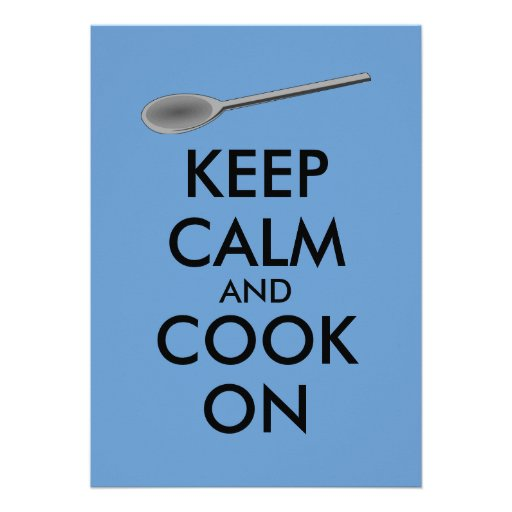 Kitchen Gifts Keep Calm and Cook On Spoon Custom Invitation