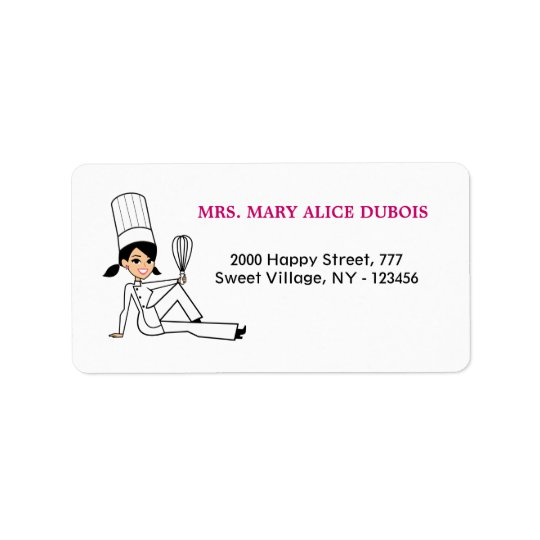 Kitchen Girl Address Label