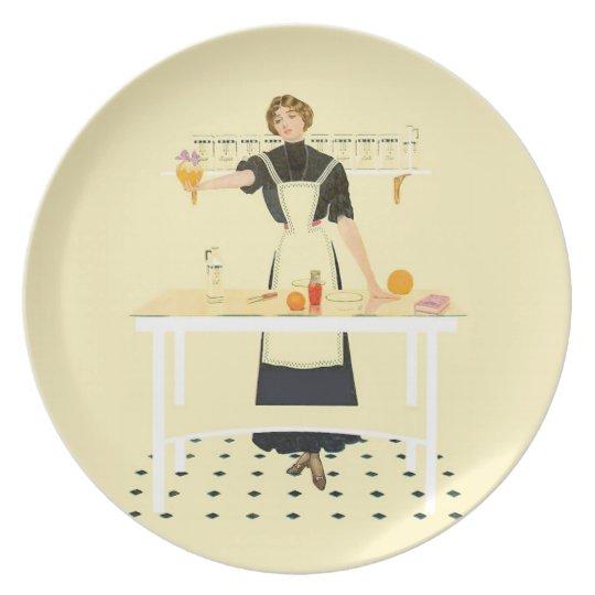 Kitchen Girl Plate