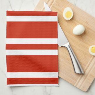 Kitchen Hand Towel/Red and White Stripes Kitchen Towels