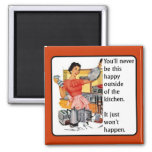 Kitchen Happy Funny Magnet Humour