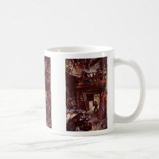 Kitchen In Hofgastein By Menzel Adolph Von Classic White Coffee Mug