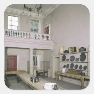 Kitchen Interior mid 18th century Square Sticker