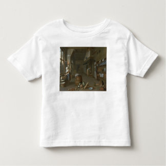 Kitchen interior with two maids preparing food toddler T-Shirt