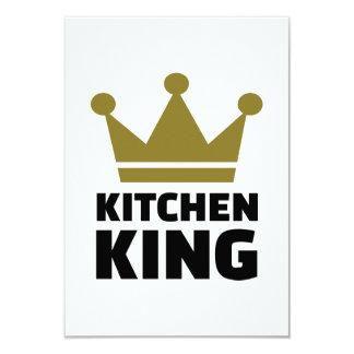 Kitchen king 9 cm x 13 cm invitation card