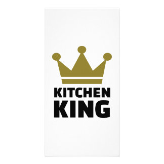 Kitchen king personalised photo card