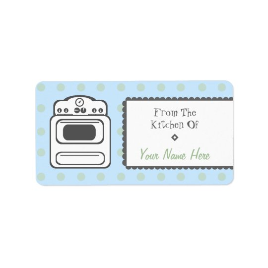 Kitchen Label - White Retro Stove