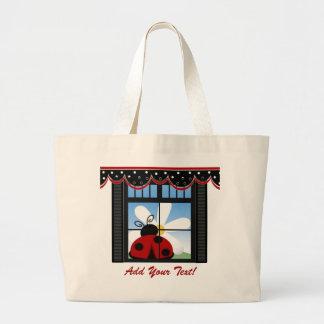 Kitchen Ladybug Tote - SRF Jumbo Tote Bag