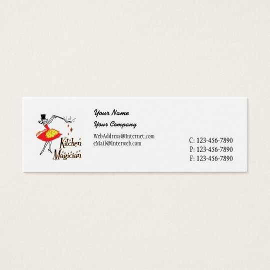 Kitchen Magician Retro Business Card