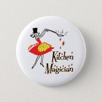 Kitchen Magician Retro Cooking Art Button