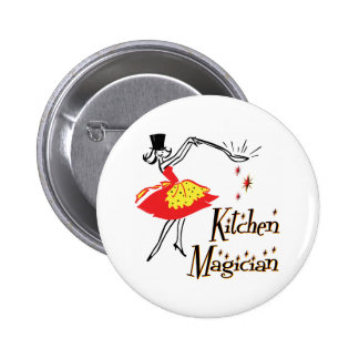 Kitchen Magician Retro Cooking Art Button