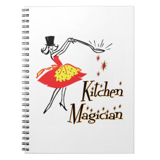 Kitchen Magician Retro Cooking Art Note Book