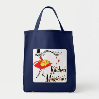 Kitchen Magician Retro Cooking Art Tote Bag