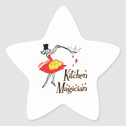 Kitchen Magician Retro Cooking Saying Stickers