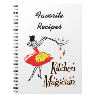 Kitchen Magician Retro Custom Recipe Notebook