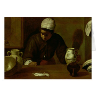 Kitchen Maid with the Supper at Emmaus, c.1618 Card