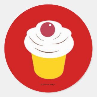 Kitchen Martzkin Cupcake Sticker Sheet