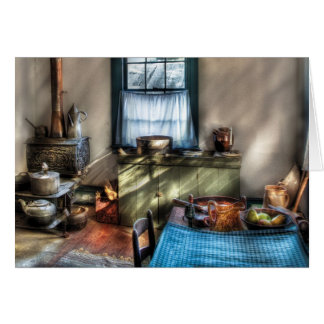 Kitchen - Old fashioned kitchen Greeting Card