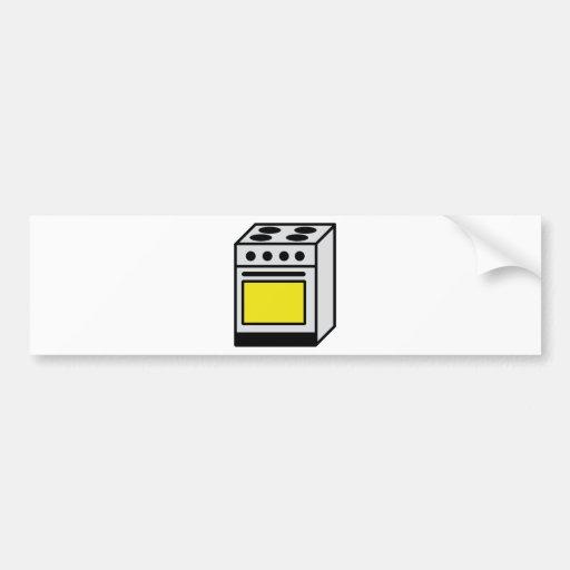 kitchen oven stove icon bumper stickers