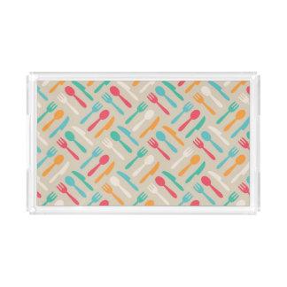Kitchen pattern 3 acrylic tray