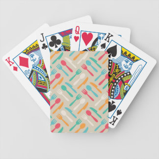 Kitchen pattern 3 bicycle playing cards